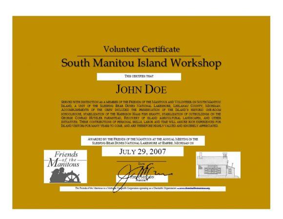 Volunteering Certificates 09