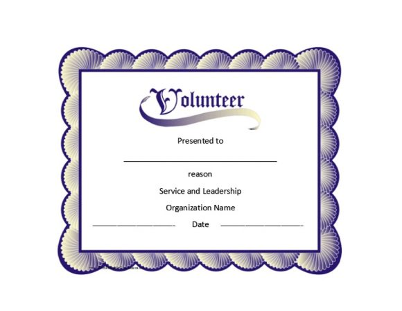Volunteering Certificates 10