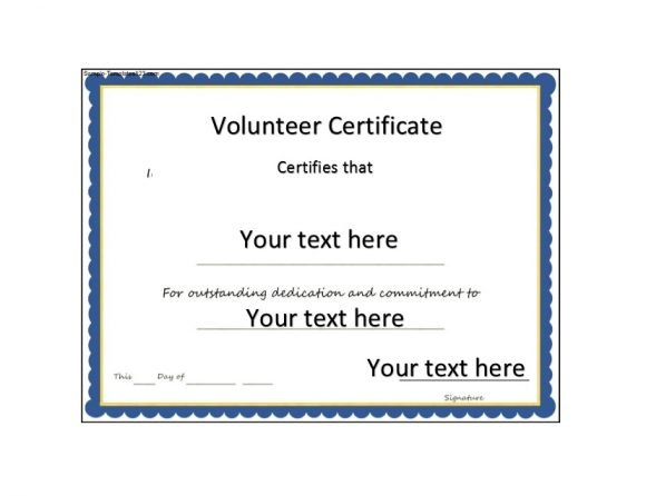 Volunteering Certificates 11