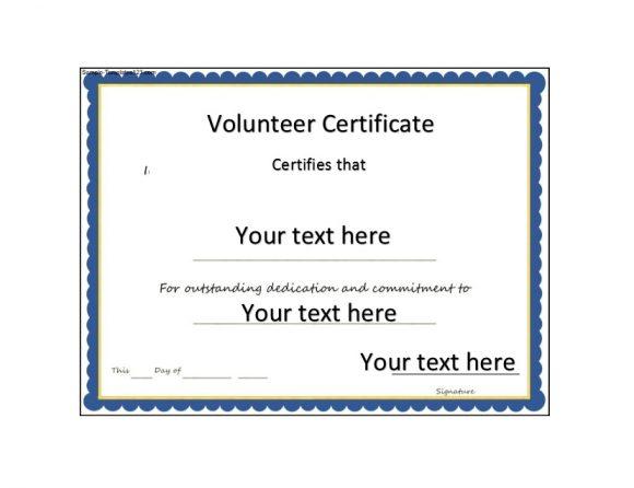 Volunteering Certificates 11