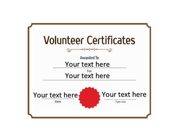 Volunteering Certificates 12