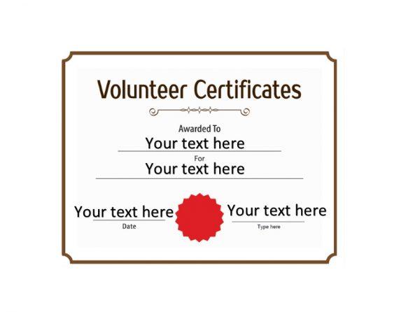 Volunteering Certificates 12