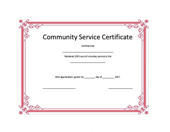 Volunteering Certificates 13
