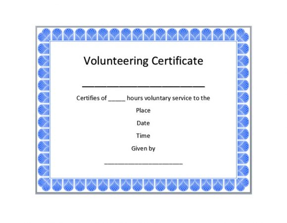 Volunteering Certificates 14
