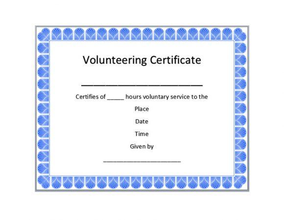 Volunteering Certificates 14
