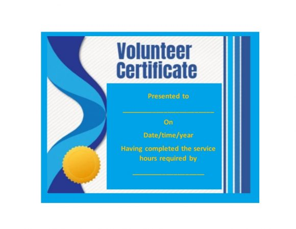 Volunteering Certificates 15