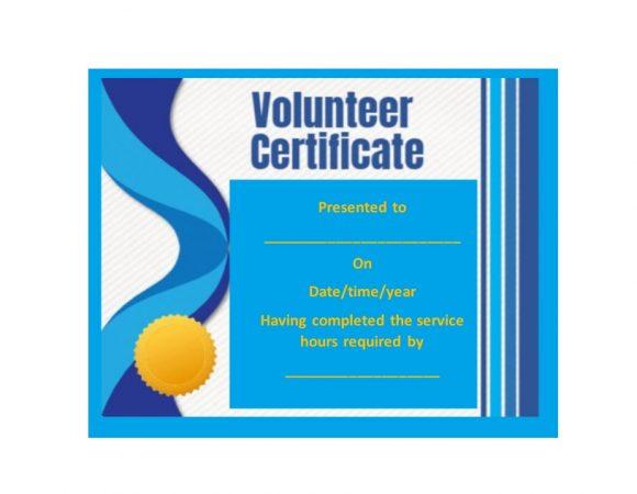 Volunteering Certificates 15