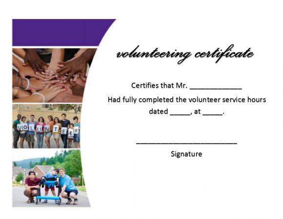 Volunteering Certificates 16
