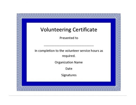 Volunteering Certificates 17