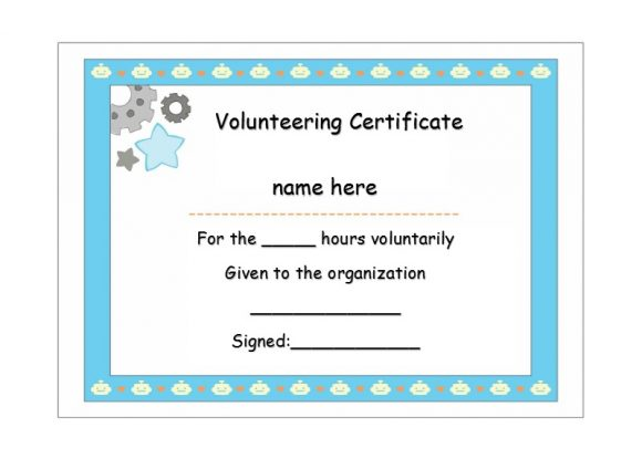 Volunteering Certificates 18
