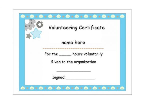 Volunteering Certificates 18