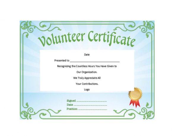 Volunteering Certificates 19