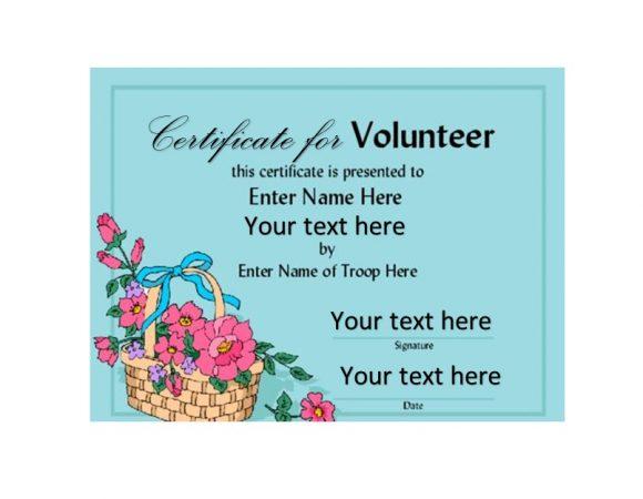 Volunteering Certificates 20