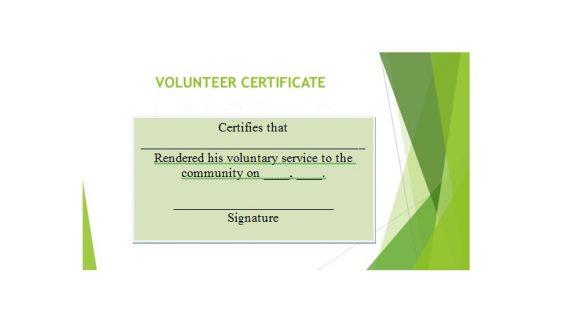 Volunteering Certificates 21