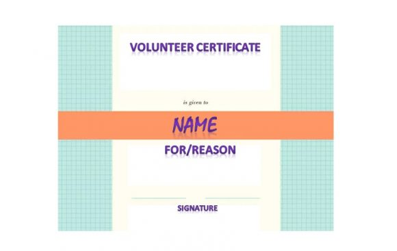 Volunteering Certificates 22