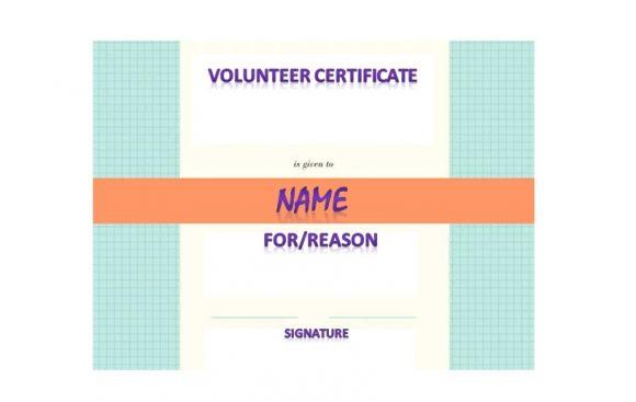 Volunteering Certificates 22