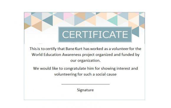Volunteering Certificates 23
