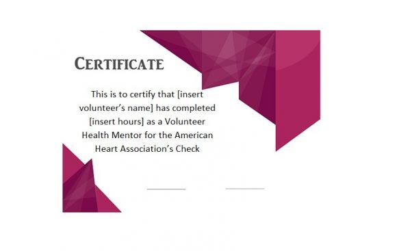 Volunteering Certificates 26
