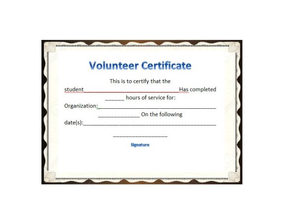Volunteering Certificates 28
