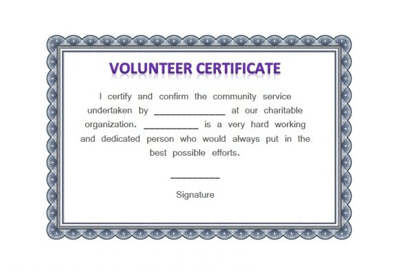 Volunteering Certificates 29