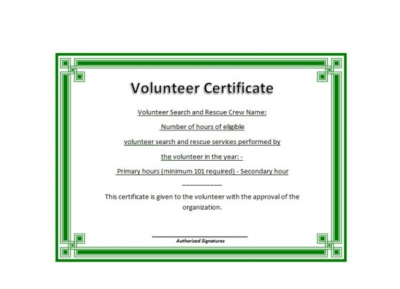 Volunteering Certificates 30