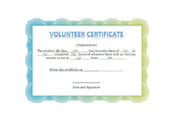 Volunteering Certificates 32