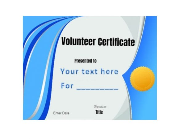 Volunteering Certificates 34