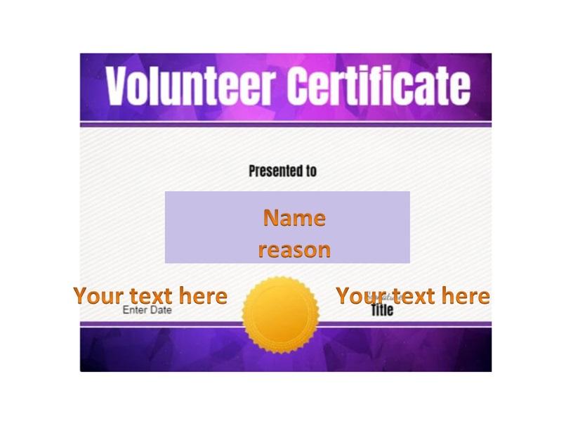 Volunteering Certificates 35