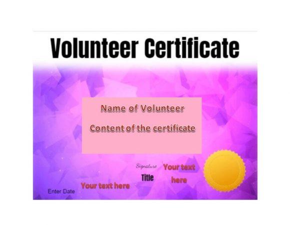 Volunteering Certificates 36