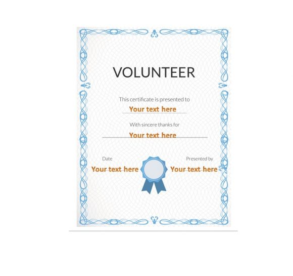 Volunteering Certificates 37