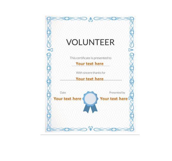 Volunteering Certificates 37