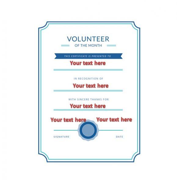 Volunteering Certificates 40
