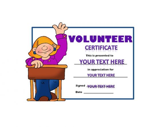 Volunteering Certificates 43