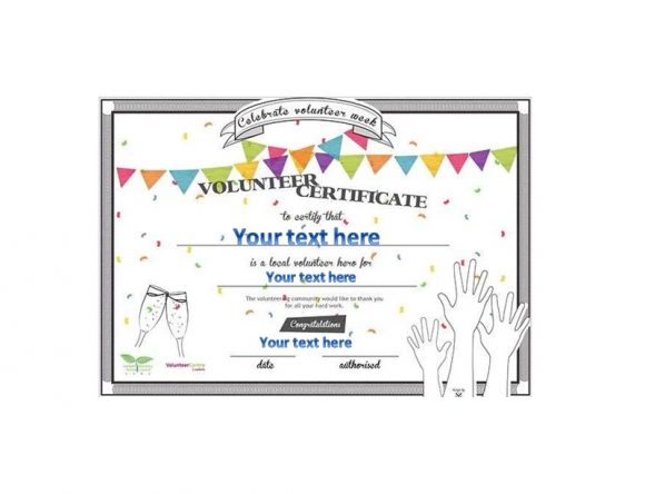 Volunteering Certificates 44