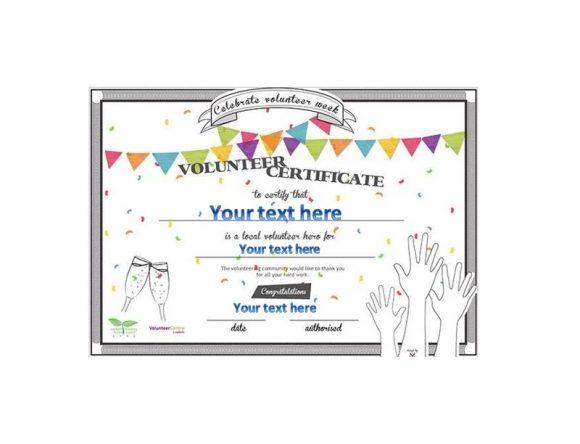 Volunteering Certificates 44