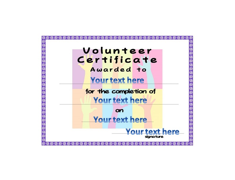 Volunteering Certificates 46