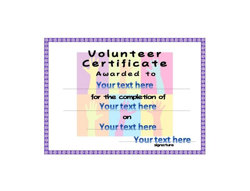 Volunteering Certificates 46