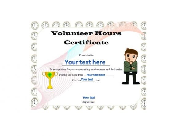 Volunteering Certificates 47