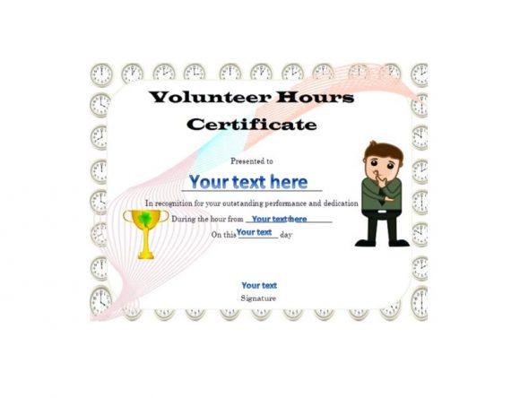 Volunteering Certificates 47