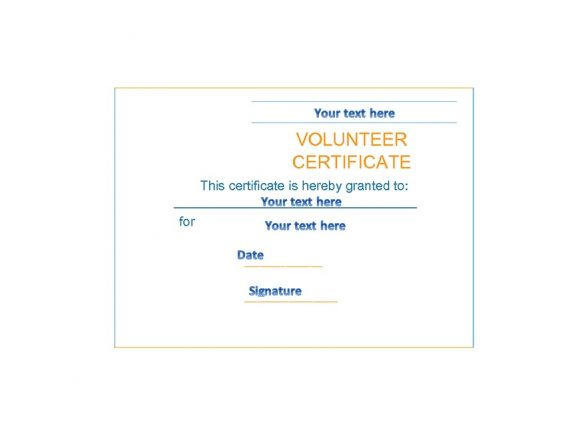 Volunteering Certificates 50