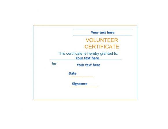 Volunteering Certificates 50
