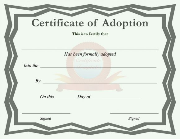 image about Printable Adoption Certificate referred to as 40+ Accurate False Adoption Certification Templates - Printable