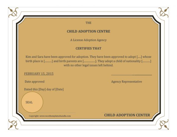 adoption certificate 08