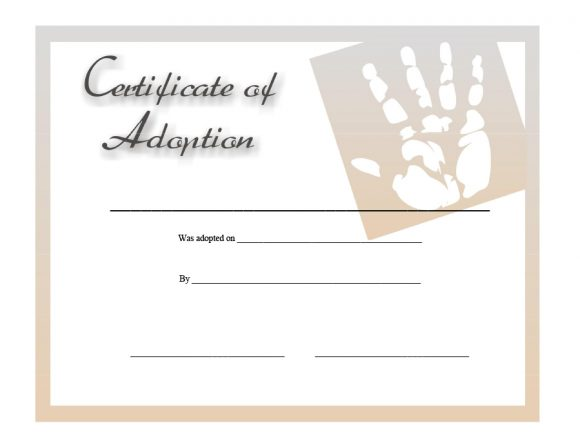 adoption certificate 10