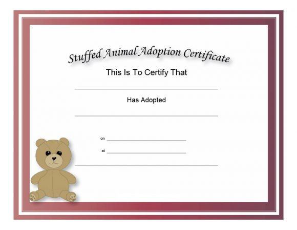 adoption certificate 12