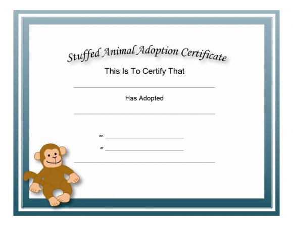 adoption certificate 13