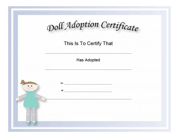 image relating to Free Printable Adoption Certificate titled 40+ Accurate False Adoption Certification Templates - Printable