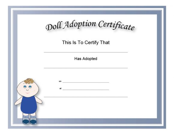 adoption certificate 16