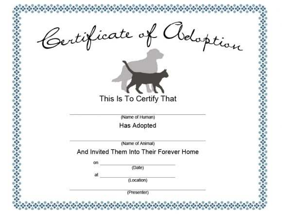 adoption certificate 18