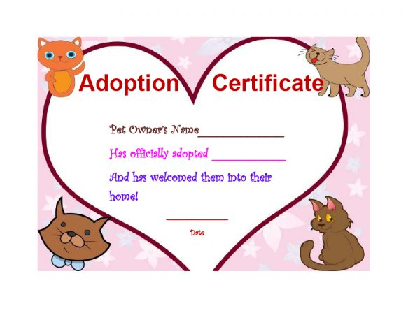 adoption certificate 20